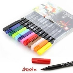Plumon Acuarelable Koi Coloring Brush Set 12 Colores - comprar online