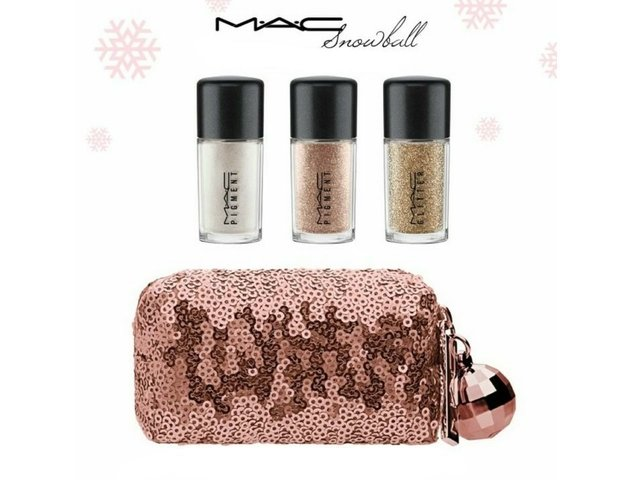 Mac kit Snow ball Gold - pigment e glitter