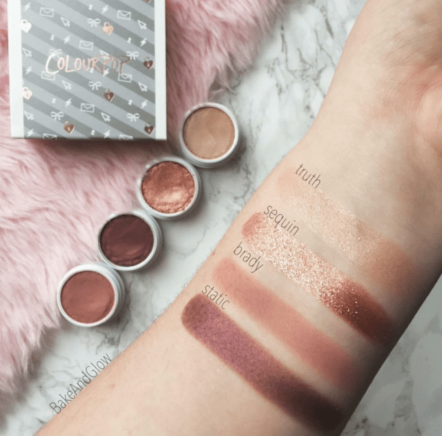Kit Colourpop 4 sombras - LOVELINE na internet