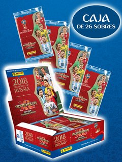 CAJA con 26 sobres Cartas Adrenalyn FIFA World Cup Russia 2018