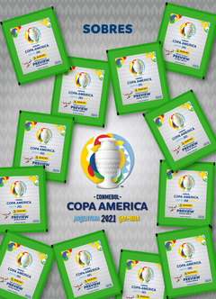Pack x 20 sobres de figuritas COPA AMERICA PREVIEW en internet