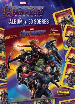 PACK INICIAL 1 álbum + 50 sobres ROAD TO AVENGERS: ENDGAME