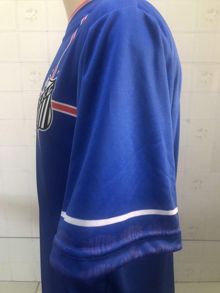 Camiseta Santos Azul - Modelo 01 - Jemone Store 7772dcef957dd