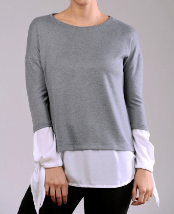Falso sweater superpuesto - comprar online