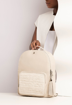 Mochila Londres Croché - Off White