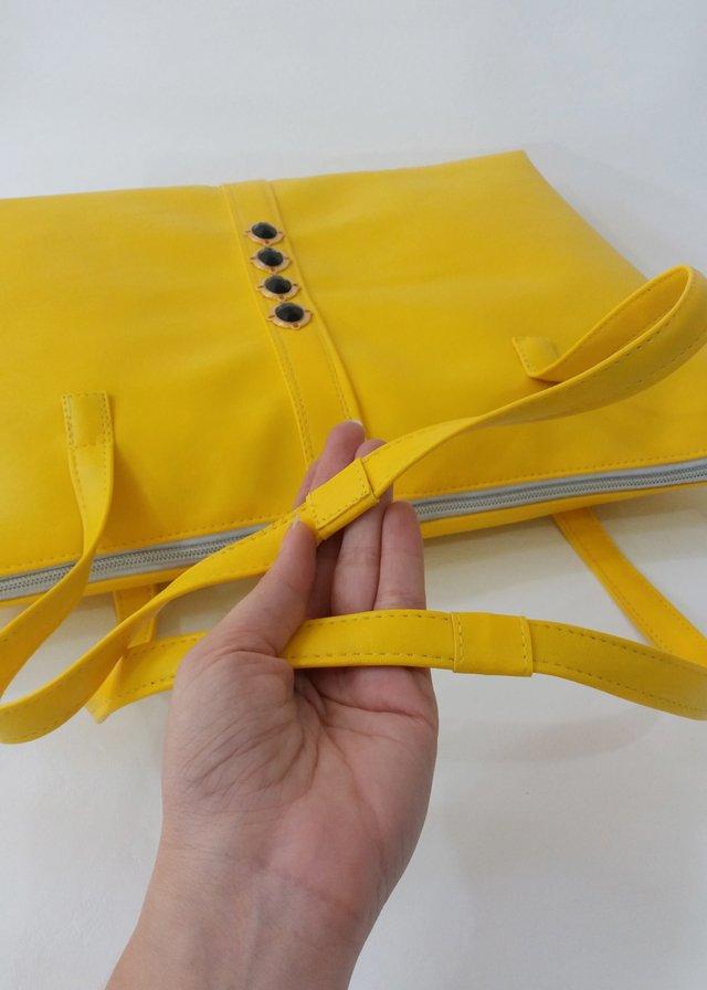bolsa amarela grande