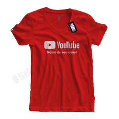 Camiseta Youtube - Personalize na internet