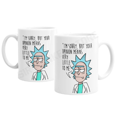 Caneca Rick and Morty na internet