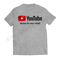 Camiseta Youtube - Personalize - loja online