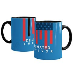 Caneca Designated Survivor na internet