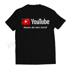 Camiseta Youtube - Personalize
