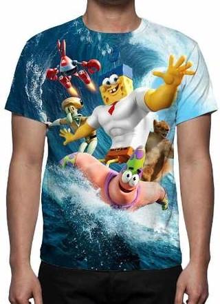 Camisa, Camiseta Filme Bob Esponja Um He......