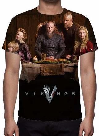 Camisa, Camiseta Série Vikings 4ª Tempor......