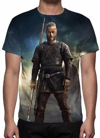 Camisa, Camiseta Série Vikings - Ragnar......