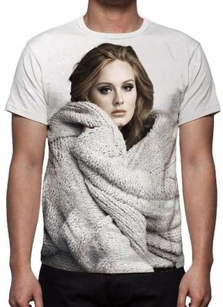 Camisa, Camiseta Adele - Estampa Total