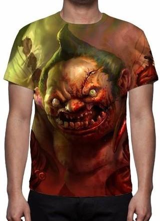 Camisa, Camiseta Dota 2 Pudge - Estampa......