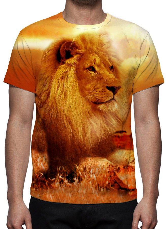 Camiseta Leão de Judá - Estampa Total 44c5db30e8d35