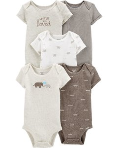 set 5 bodys carters - comprar online