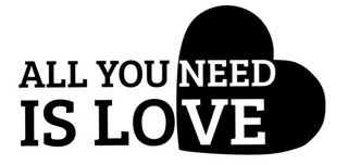 Adesivo de Parede Frase All you need is love
