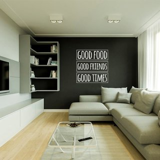 Adesivo de Parede Frase Good food good friends good time