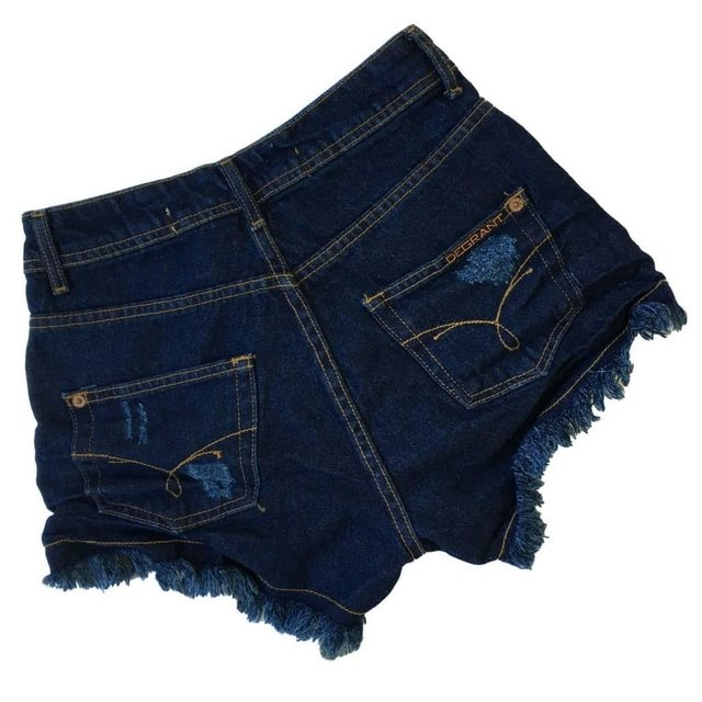 SHORT JEANS DEGRANT DESTROYED HOT PANTS DUOCOURO