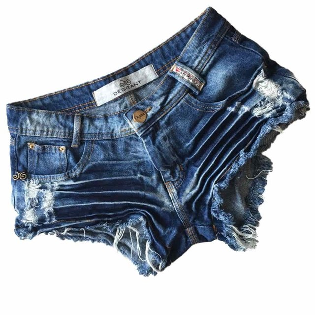 SHORTS JEANS DESTROYED DEGRANT RESINADO