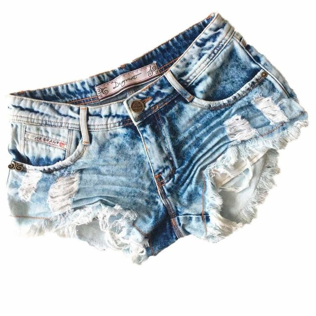 SHORTS JEANS DESTROYED LIGHTS IN THE DARK DEGRANT
