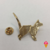 Pin Botton Gato Dourado