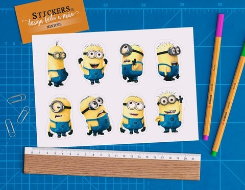 Cartela 8 Stickers Minions