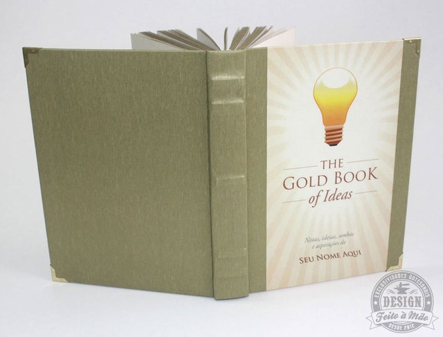 Caderno The Gold Book of Ideas - Design Feito à Mão