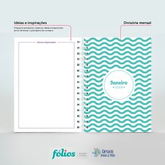 Daily Planner 2020 Personalizado Floral Verde na internet