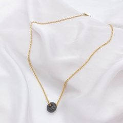 Collar donut (marron/verde)