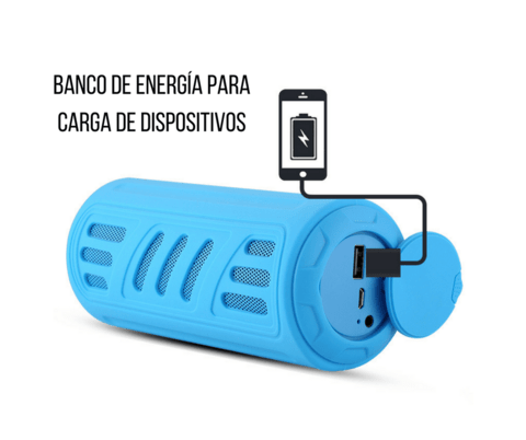 Parlante Power Bank Aj-96 Resistente al agua Bluetooth Linterna
