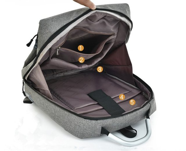 Mochila De Viaje Smart Bag Carga Usb Notebook Tablet Resist N5 en internet