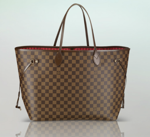 Bolsa Louis Vuitton Neverfull Damier Ebene MM - couro Premium
