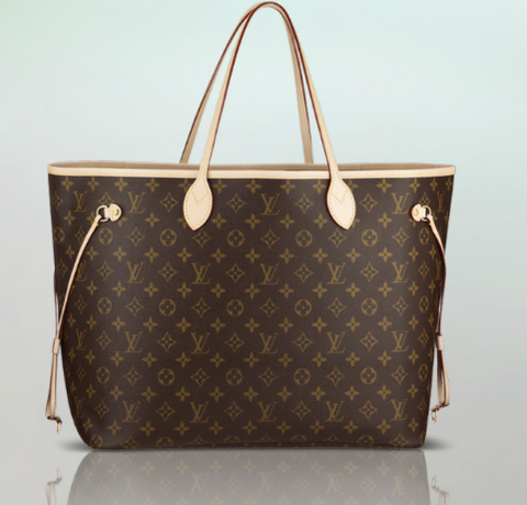 Bolsa Louis Vuitton Neverfull MM Monogram Canvas - couro Premium