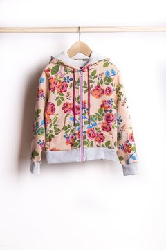 Campera friza estampada - 17407