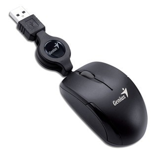 Mini Mouse Genius Microtraveler Retractil Negro