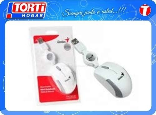 Mouse Genius Micro Traveler Retractil (blanco) Miramar Bsas