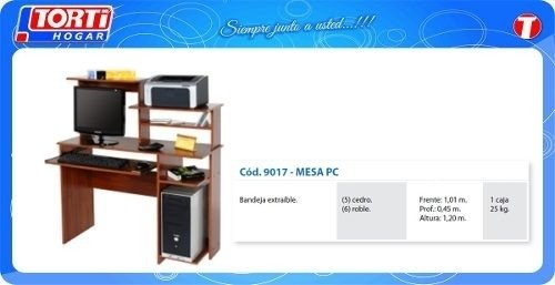 Mesa Pc Platinum 90170 Color Roble Miramar-bsas