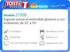 Soporte Tv Nakan 213sb Extensible Giratorio Inclinable en internet