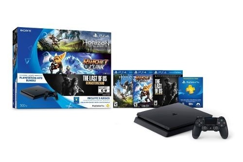 Ps4 - Sony - Playstation 4 Hit Bundle 500gb + 3 Juegos - comprar online