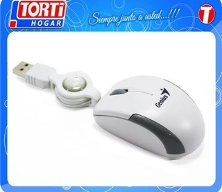 Mini Mouse Genius Microtraveler Retractil Blanco - comprar online