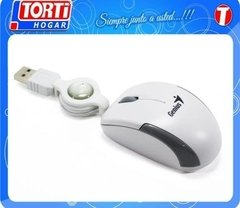 Mini Mouse Genius Microtraveler Retractil Blanco