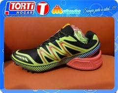 Zapatilla I-run De Running Negra Verde