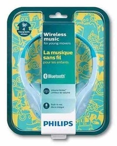 Auricular Philips Shk 4000 Bluetooth Con Stickers Para Niños