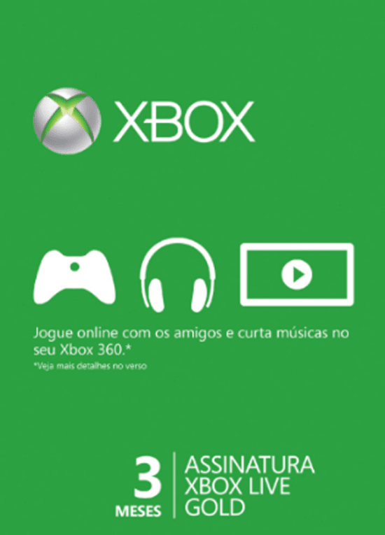Xbox Live Gold - 3 meses - comprar online