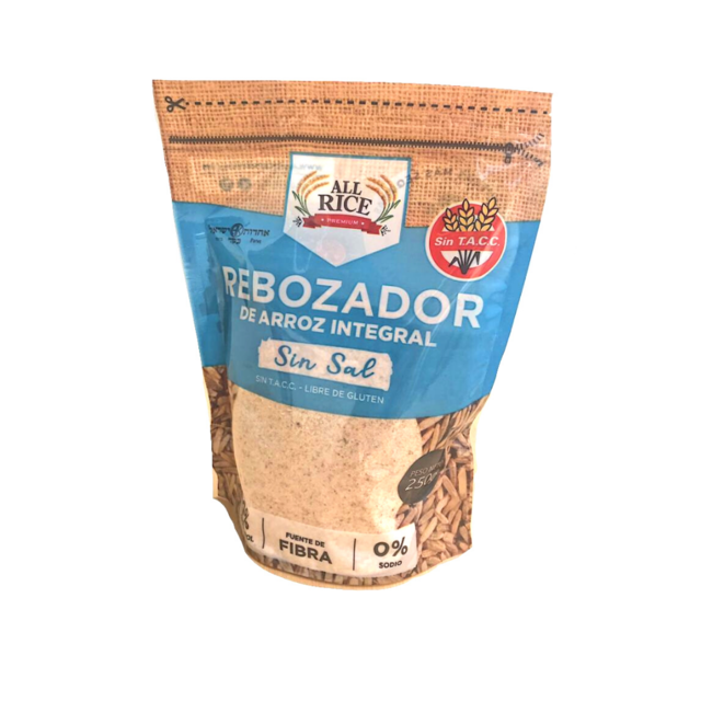 Rebozador de Arroz Sin Sal - All Rice x 250 Gs