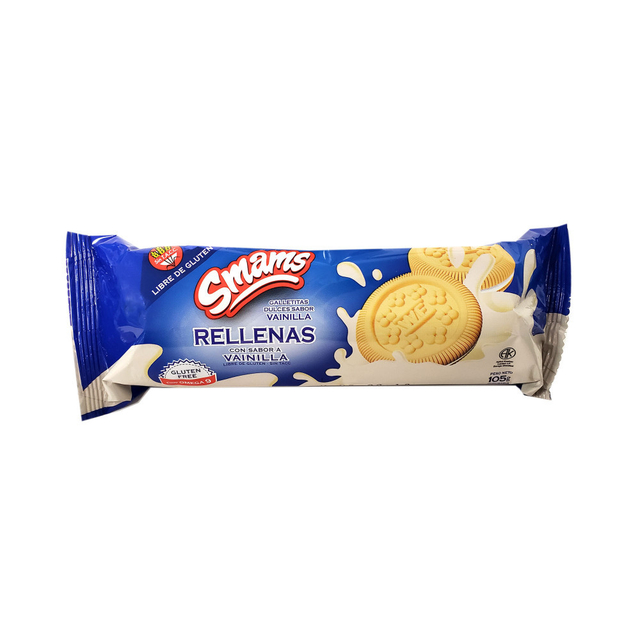 Galletitas Vainilla Rellenas Smams x 105 Gs