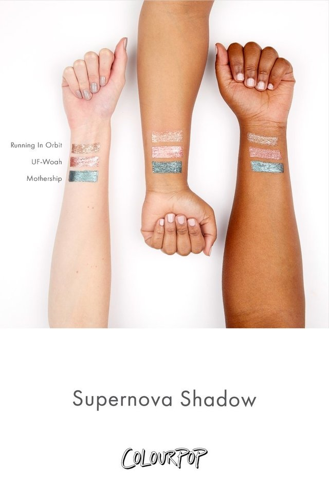 Sombra Líquida Colourpop Supernova Running in Orbits na internet